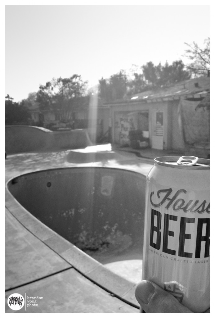 House Beer at Rays pool fresno
