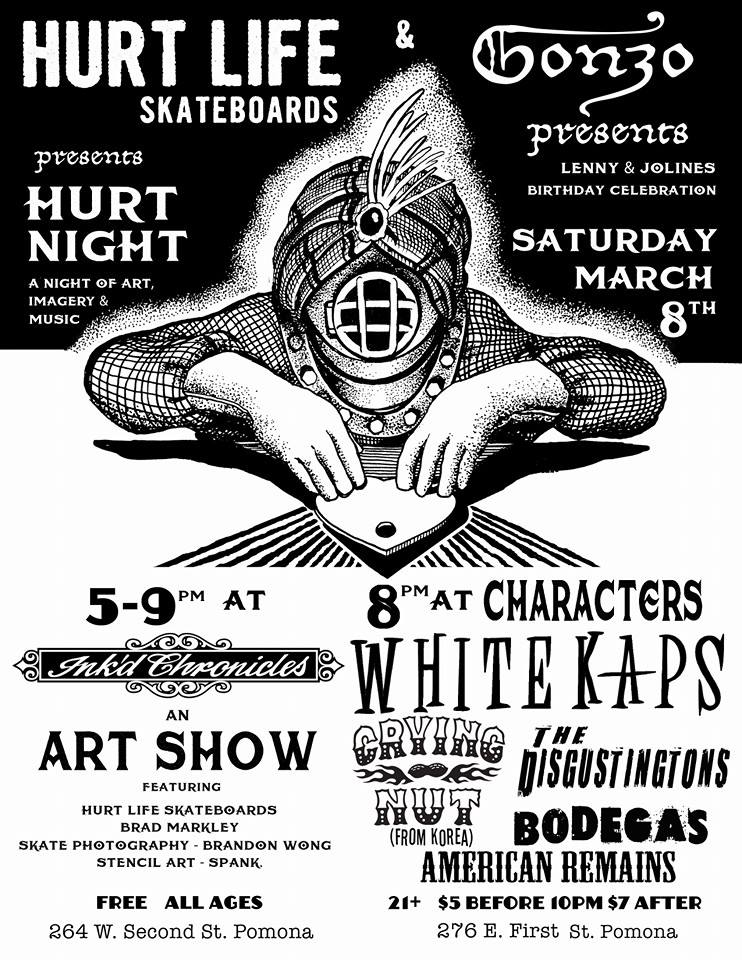 hurt Life skateboards art show